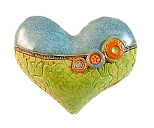 Annie's Little Fatties 2 by Laurie Pollpeter Eskenazi (Ceramic Wall Sculpture)
