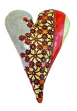 Pinwheels and Berries by Laurie Pollpeter Eskenazi (Ceramic Wall Art)