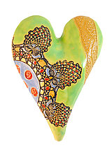 Cirque by Laurie Pollpeter Eskenazi (Ceramic Wall Sculpture)