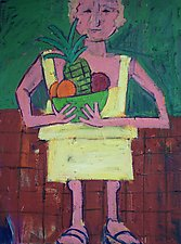 Woman with Fruit by Elisa Root (Oil Painting)