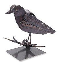 Raven on Stand by Ben Gatski and Kate Gatski (Metal Sculpture)
