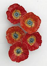 Poppy Field by Amy Meya (Ceramic Wall Sculpture)