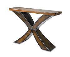 Rust X Console by Ben Gatski and Kate Gatski (Metal Console Table)
