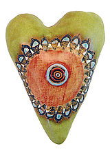 Bella's Button by Laurie Pollpeter Eskenazi (Ceramic Wall Art)