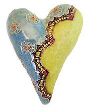 Miss Kitty's Stars by Laurie Pollpeter Eskenazi (Ceramic Wall Sculpture)