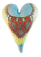 Adorned by Laurie Pollpeter Eskenazi (Ceramic Wall Sculpture)