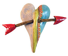 Jamie's Dance by Laurie Pollpeter Eskenazi (Ceramic Wall Sculpture)