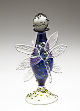 Dragonfly Perfume Bottle by Loy Allen (Art Glass Perfume Bottle)