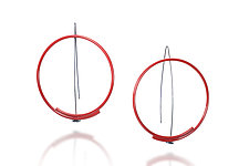 Circle Earrings by Donna D'Aquino (Metal Earrings)