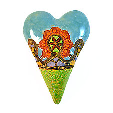 Sarah's New Basket by Laurie Pollpeter Eskenazi (Ceramic Wall Sculpture)