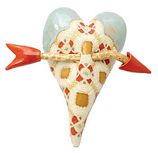 Paper Lace by Laurie Pollpeter Eskenazi (Ceramic Wall Sculpture)