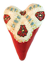 Miss Poppy by Laurie Pollpeter Eskenazi (Ceramic Wall Art)