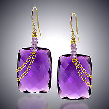 Amethyst Earrings by Judy Bliss (Gold & Stone Earrings)