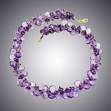 Pink Amethyst Necklace by Judy Bliss (Gold & Stone Necklace)