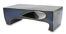 Blue Drop Coffee Table by Ben Gatski and Kate Gatski (Metal Coffee Table)