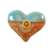 Black Eyed Susan by Laurie Pollpeter Eskenazi (Ceramic Wall Sculpture)
