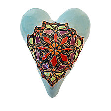 Little Miss Mosaic by Laurie Pollpeter Eskenazi (Ceramic Wall Sculpture)