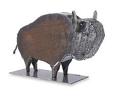 Wild Buffalo by Ben Gatski and Kate Gatski (Metal Sculpture)