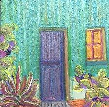 Blue Door by Jeff  Ferst (Oil Painting)