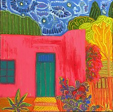 Pink House by Jeff  Ferst (Oil Painting)
