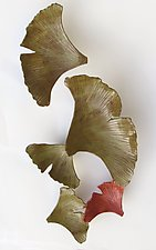 Ginkgo by Amy Meya (Ceramic Wall Sculpture)