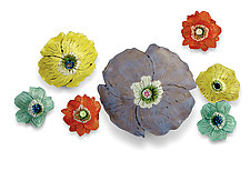 Wall Flowers by Amy Meya (Ceramic Wall Sculpture)