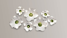 Dogwood Blossoms by Amy Meya (Ceramic Wall Sculpture)