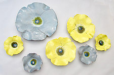 Violas II by Amy Meya (Ceramic Wall Sculpture)