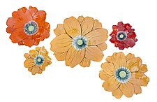 California Poppies by Amy Meya (Ceramic Wall Sculpture)
