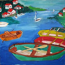 Boats by Elisa Root (Oil Painting)