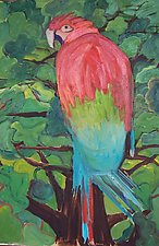 Bird in Tree by Elisa Root (Oil Painting)