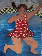 Girl Jumping by Elisa Root (Oil Painting)