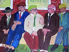 Five Men by Elisa Root (Oil Painting)