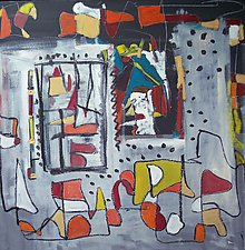 Abstract, After Kandinsky by Elisa Root (Oil Painting)