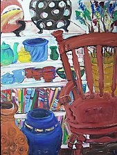 Rocking Chair with Bowls by Elisa Root (Oil Painting)