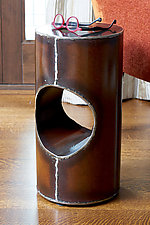Cylinder Table by Ben Gatski and Kate Gatski (Metal Side Table)