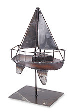 Sailboat Sculpture by Ben Gatski and Kate Gatski (Metal Sculpture)