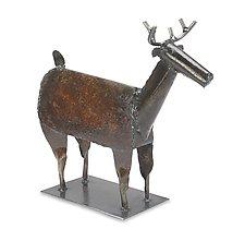 Dennis the Deer (Standing) by Ben Gatski and Kate Gatski (Metal Sculpture)