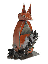 Sly Fox by Ben Gatski and Kate Gatski (Metal Sculpture)