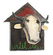 Bessie the Cow by Ben Gatski and Kate Gatski (Metal Wall Sculpture)