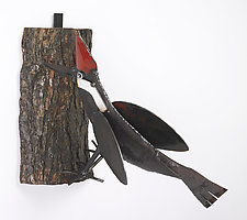 Woodpecker by Ben Gatski and Kate Gatski (Metal Wall Sculpture)