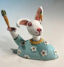 Rabbit by Amy Goldstein-Rice (Ceramic Sculpture)
