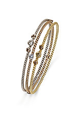 Gold Twist Stackers by Diana Widman (Gold & Stone Bracelet)
