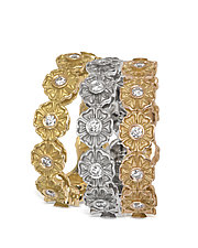 Daisy Chain Rings by Diana Widman (Gold & Stone Ring)