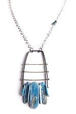 Vertical Climb Pendant with Kyanite by Erica Stankwytch Bailey (Silver & Stone Necklace)