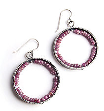 Ruby Geode Earrings by Erica Stankwytch Bailey (Silver & Stone Earrings)