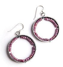 Ruby Geode Earrings by Erica Stankwytch Bailey (Silver & Stone Earrings)