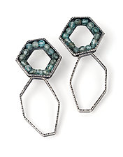 Fragments Earrings by Erica Stankwytch Bailey (Silver & Stone Earrings)