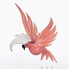 Pink Cockatoo by WGK Glass (Art Glass Ornament)