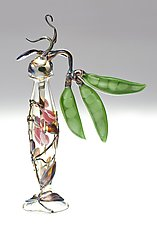 Sweet Pea Bottle by Loy Allen (Art Glass Perfume Bottle)